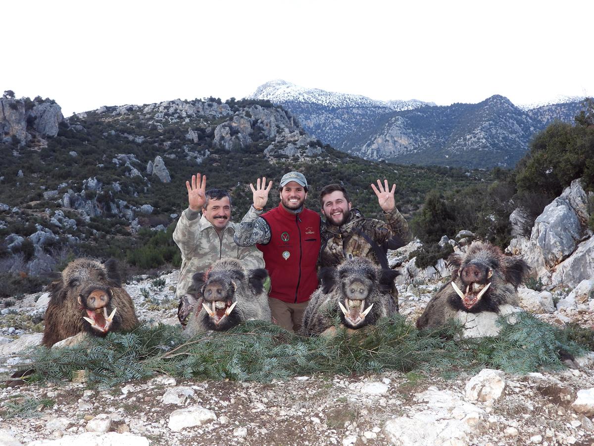 Diego from Spain hunting wild boar in Turkey, December 2018